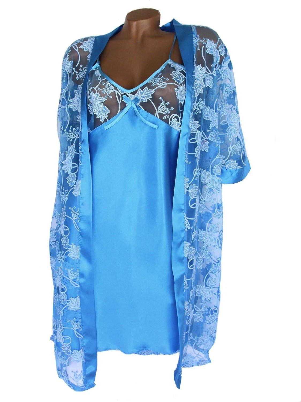 NovaBelle Women's Night Shirt Blue Light blue
