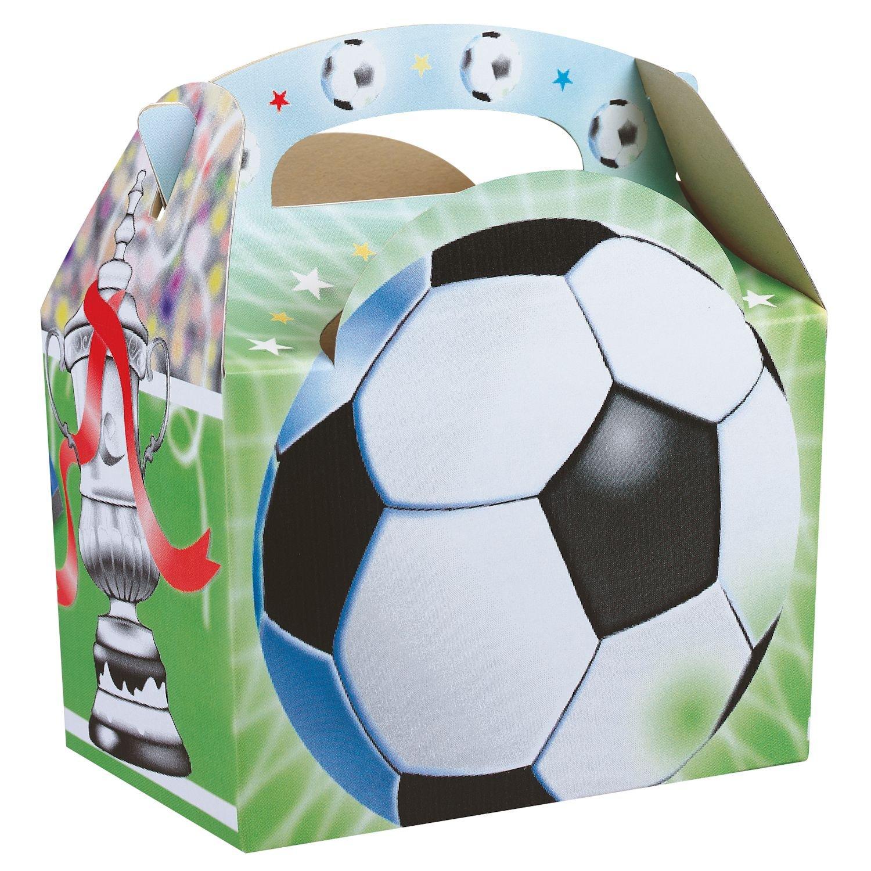 Deli Supplies Lunchboxen aus Pappe mit Fußball-Motiv, 250 Stück