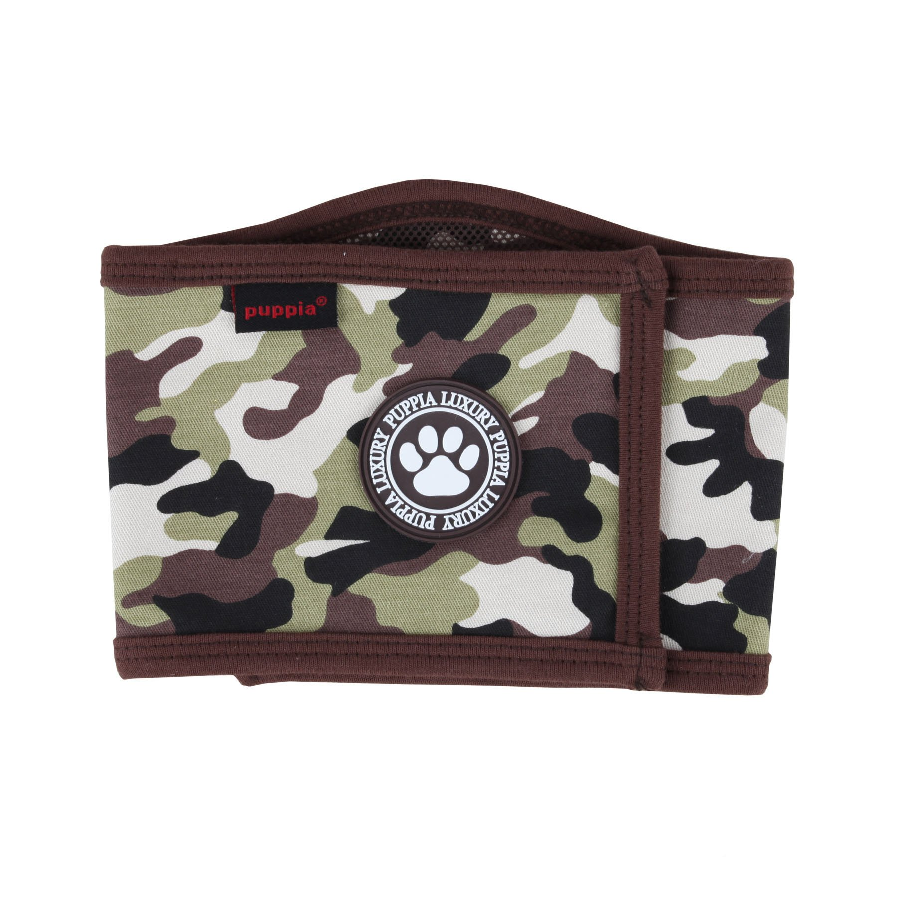 Puppia Camo Legend Manner Band, Large, Brown