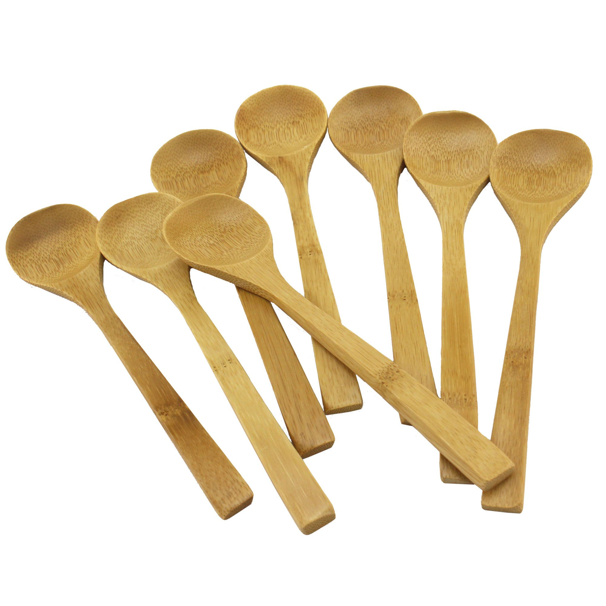BambooMN Brand - Solid Bamboo Soup Spoon 8'' - 100 pcs by BambooMN