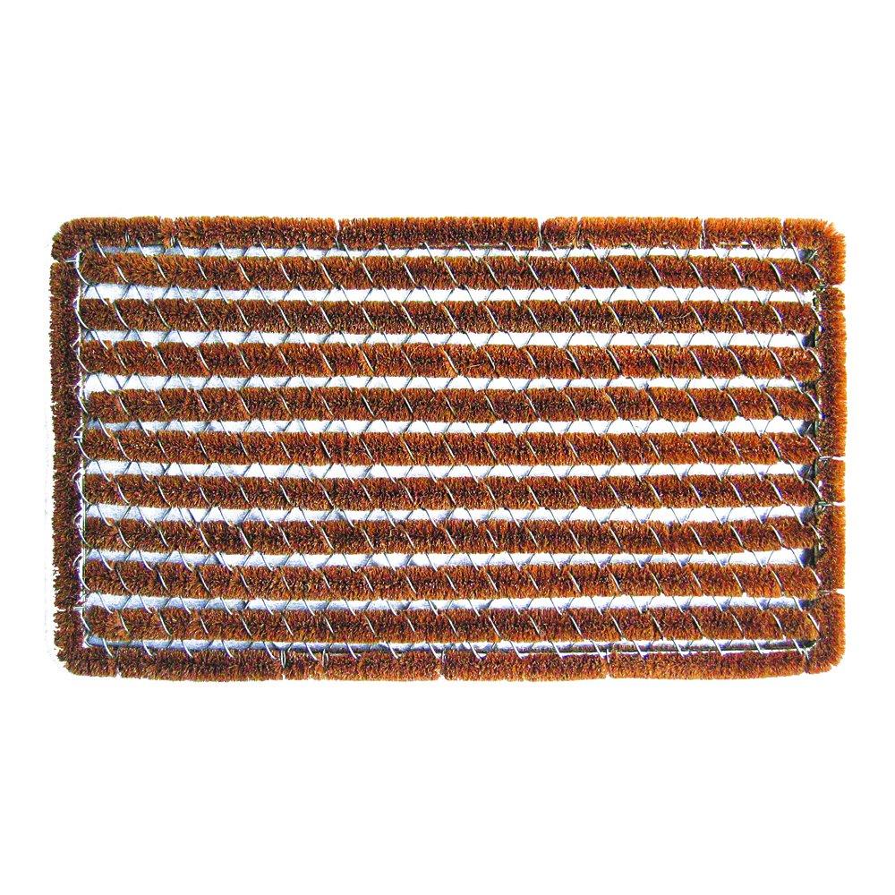 Entryways Rectangle Striped Wire Brush Bootscraper Doormat 16'' X 27''