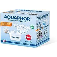 Aquaphor Maxfor+ Pack 5+1 waterfilterpatroon tegen kalk, chloor en andere ongewenste stoffen, met gepatenteerde aqualen, wit, 200 l