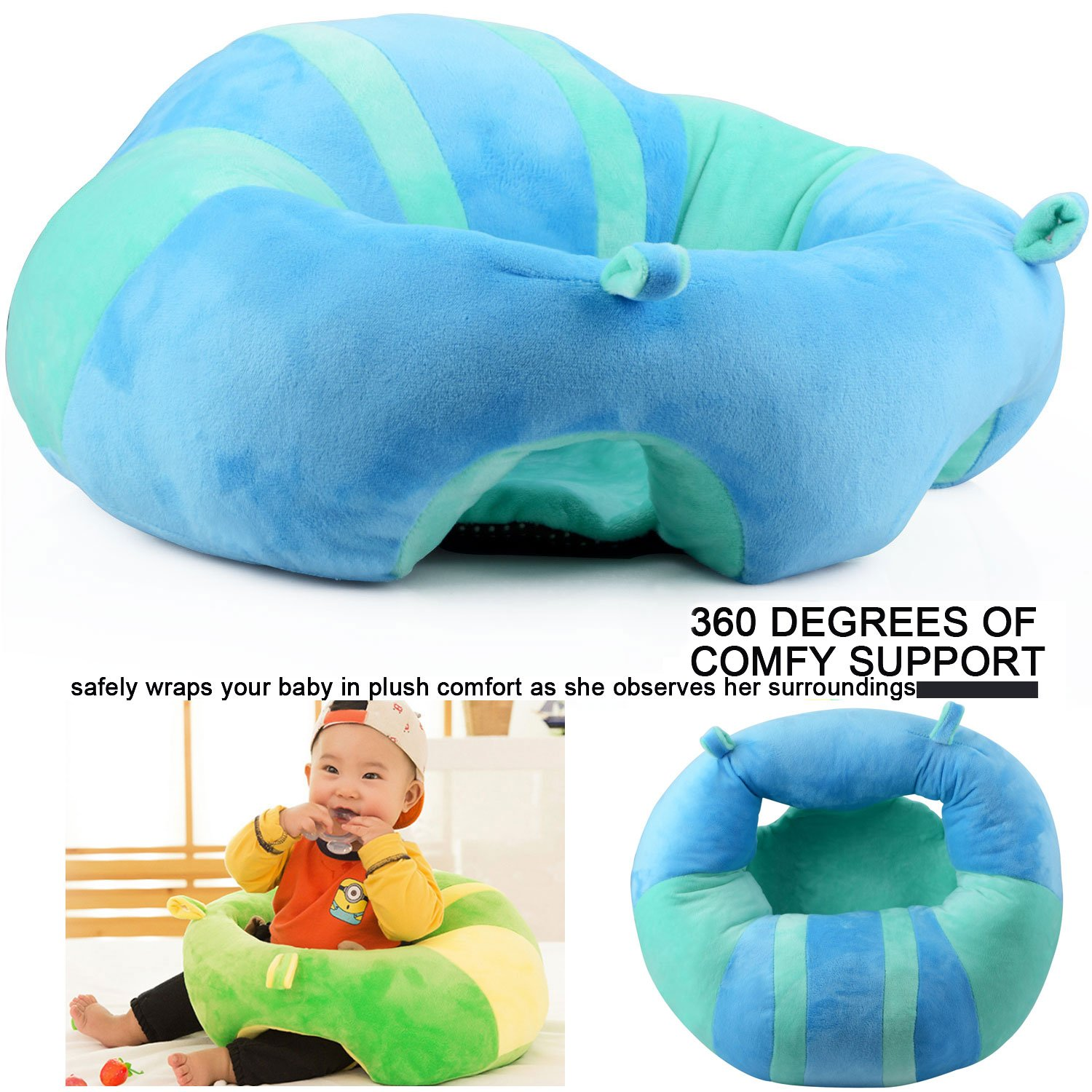 Amazon.com : pinnacleT1 Baby Cartoon Animal Plush Sofa Seat Soft ...