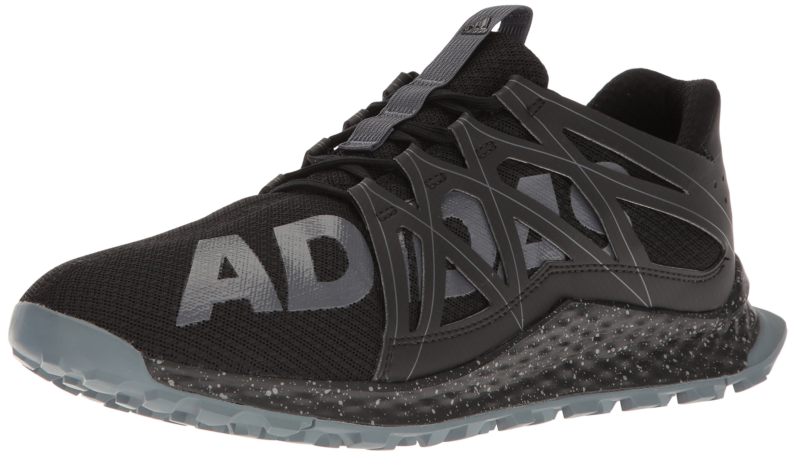 adidas Men's Vigor Bounce m Trail Runner, Black/Onix/Grey, 11.5 M US