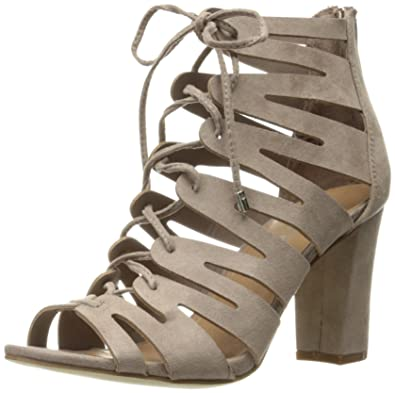 3015424aaf8 Madden Girl Women s Banerrr Dress Sandal Dark Taupe 9 ...