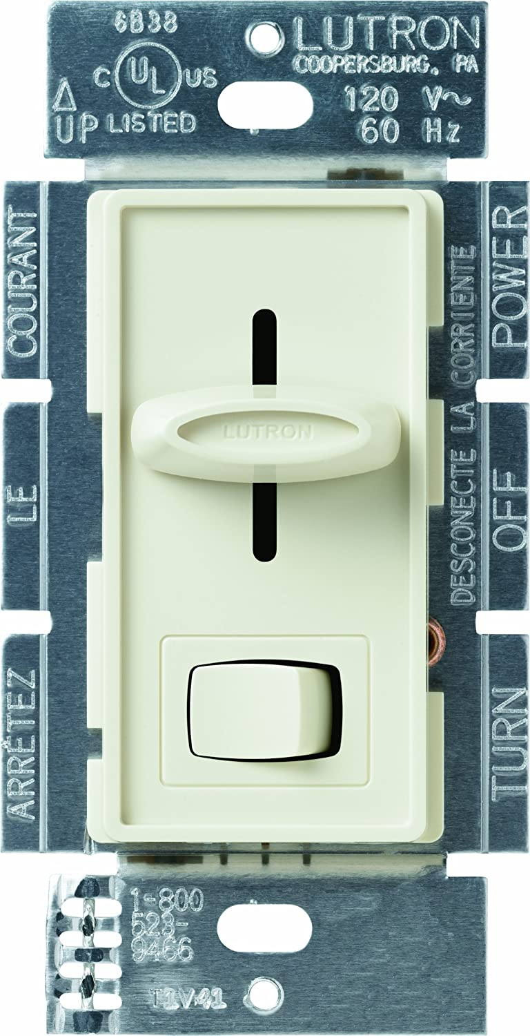 lutron s 600p wh 600 watt skylark single pole dimmer white wall dimmer switches amazon com
