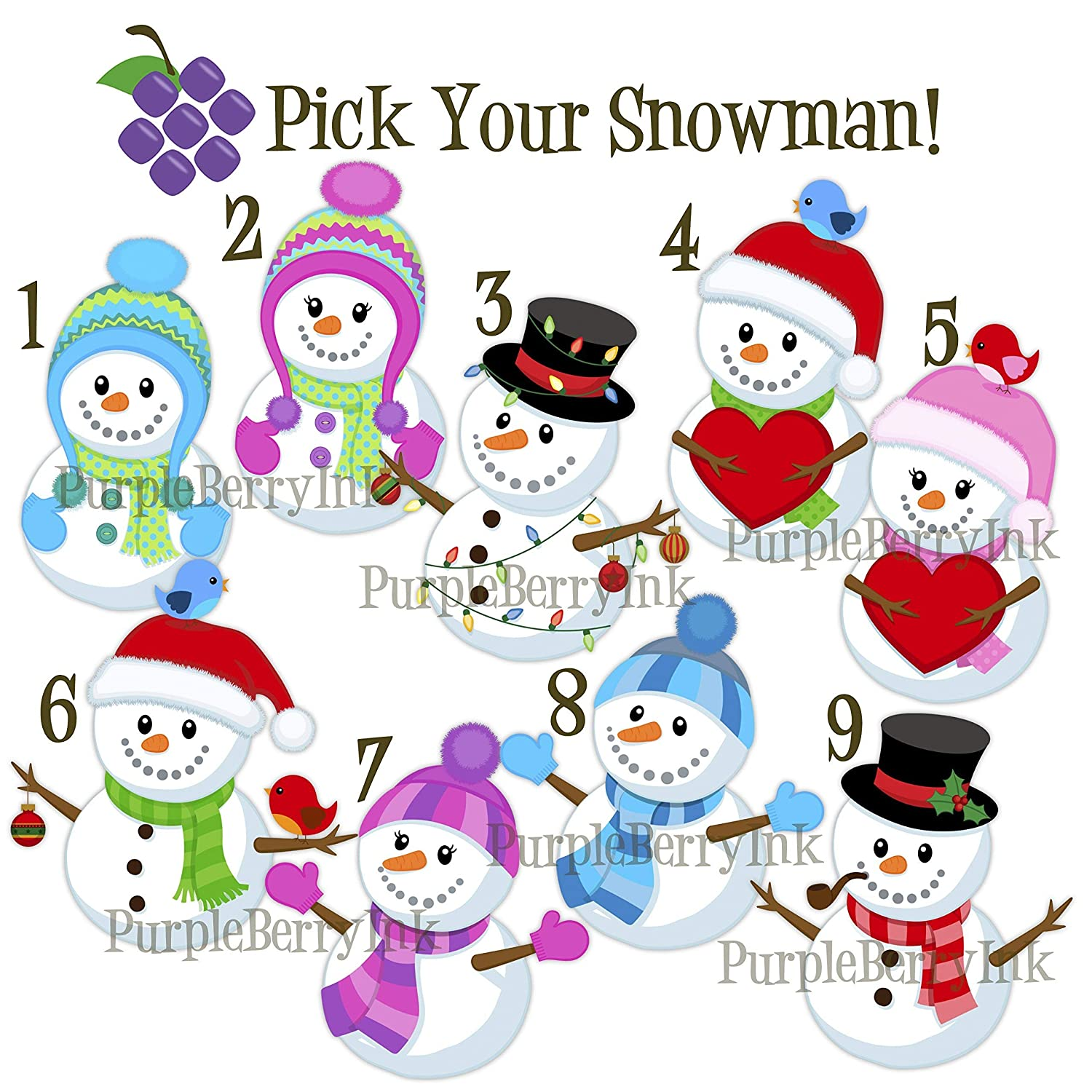 Mint Green Dots Christmas Snow Melamine Personalized Name Gift Snowman Plate