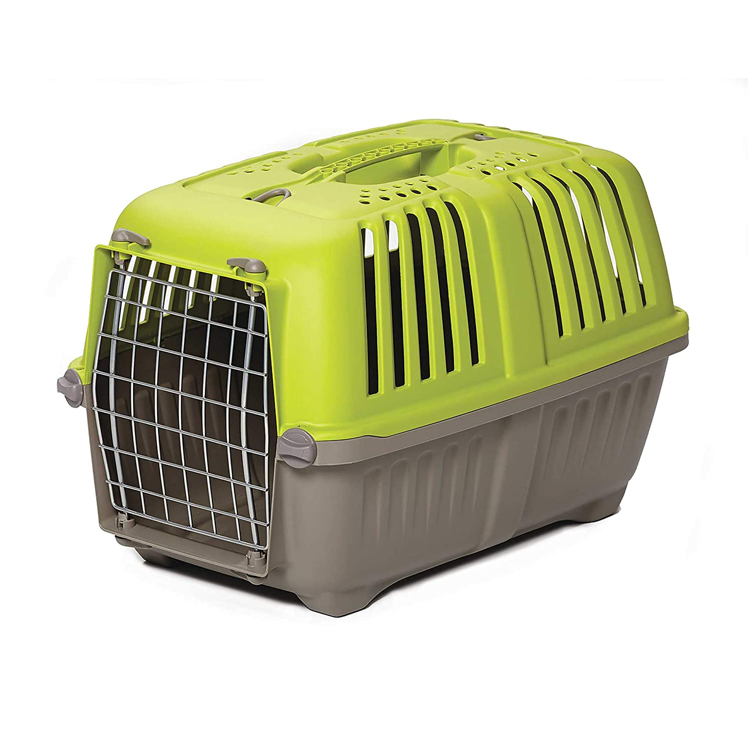 Pet Carrier  Hard-Sided Dog Carrier, Cat Carrier, Small Animal Carrier in Green   Inside Dims 17.91L x 11.5W x 12H & Suitable for Tiny Dog Breeds   Perfect Dog Kennel Travel Carrier for Quick Trips