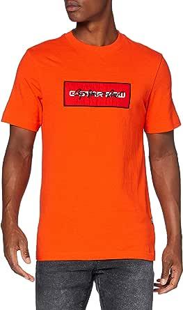G-STAR RAW Box Logo Embro Graphic Straight Camiseta para Hombre