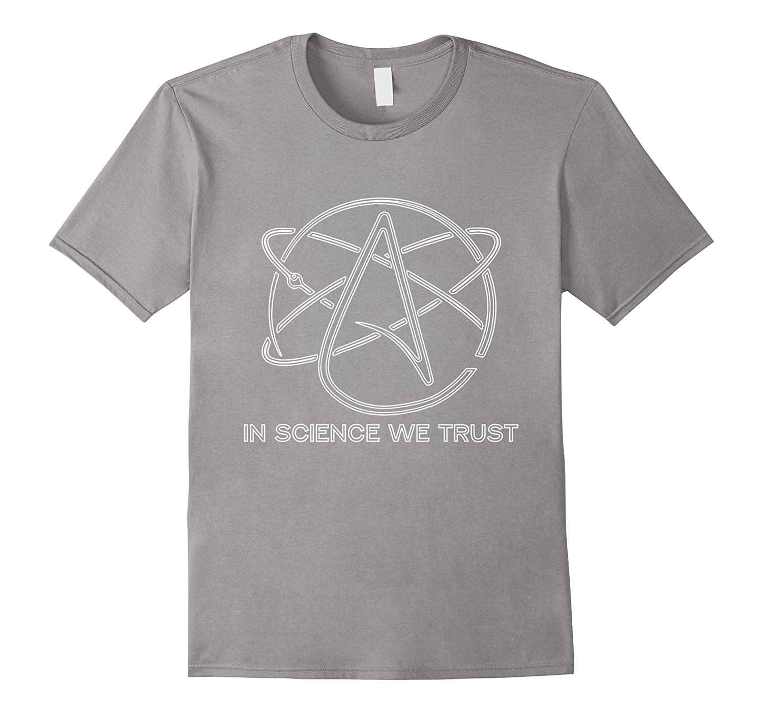 Atheism Science Atom Logo T-Shirt Athiest Science Retro-Vaci