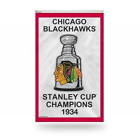 Amazon.com   Rico Chicago Blackhawks 1934 Stanley Cup Champions 3  x ... e8829df7a