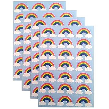 Happy Unicorn Sparkly Rainbow Sticker