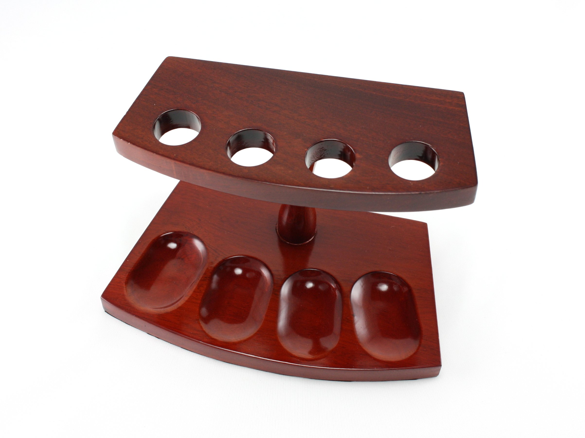 Skyway Kingston 4 Pipe Wood Tobacco Pipe Stand Rack Holder - Cherry by Skyway Products