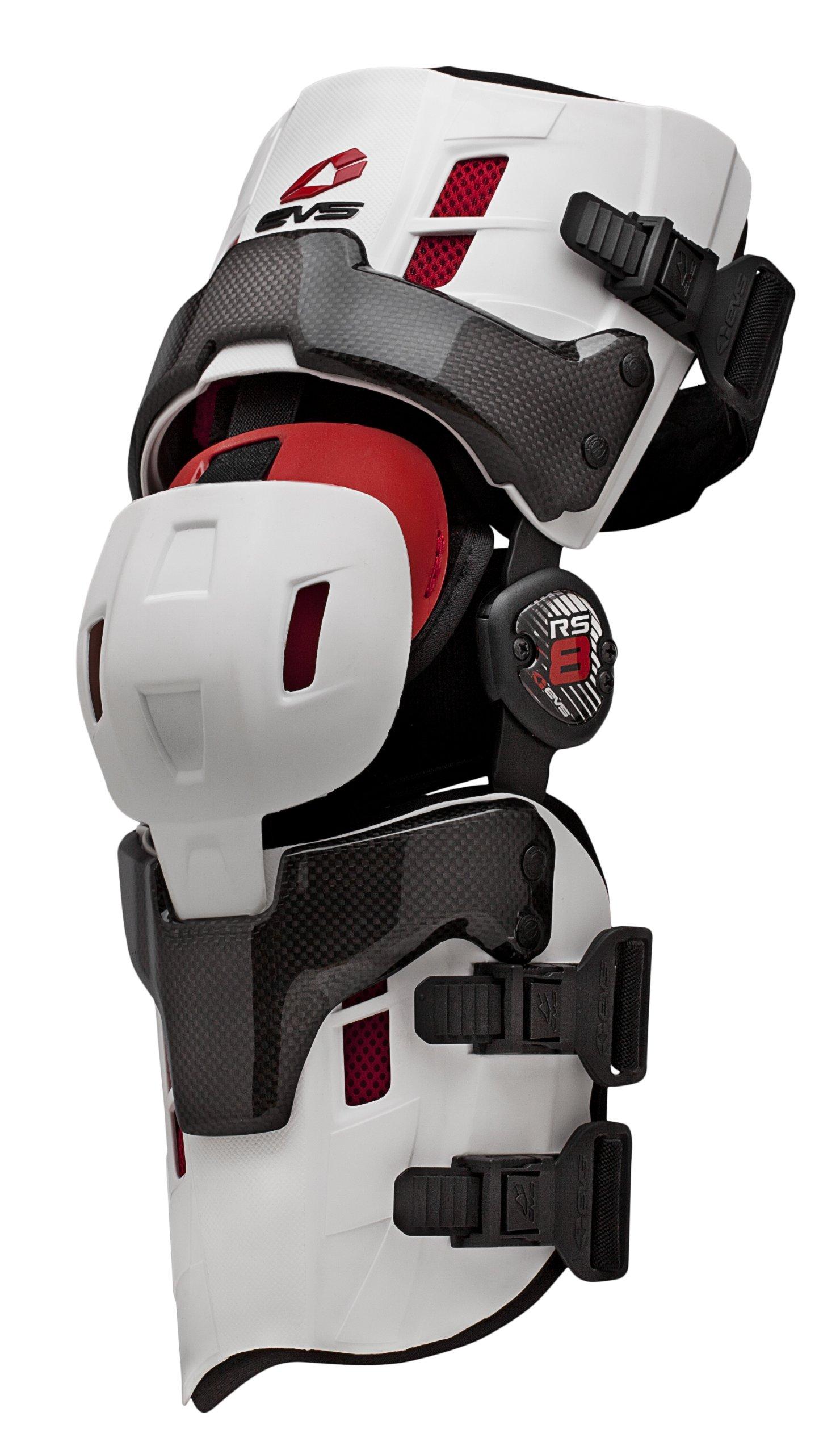 EVS Sports RS8 Pro Right Knee Brace (White, Medium)