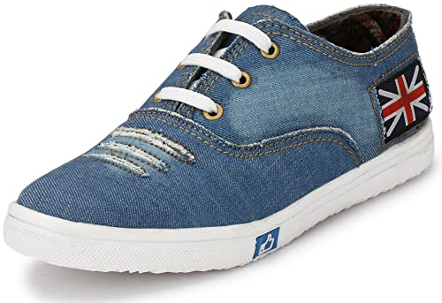 7f029e3c017 Walktoe Denim Sky Blue Casual Canvas Sneaker Shoes for Womens Girls  Buy  Online at Low Prices in India - Amazon.in