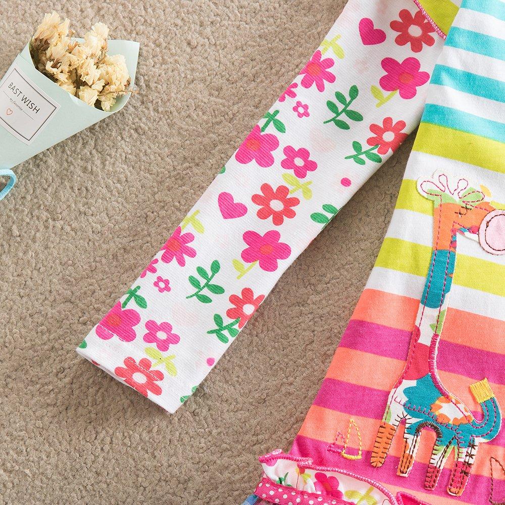 VIKITA Vestido para Niñas Manga Larga Algodón Princesa Casuales Bebe Niñas 1-6años: Amazon.es: Ropa y accesorios