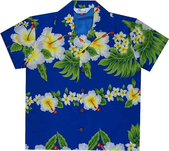 Alvish Hawaiian Camisas Niños Hibiscus Impresión Flor Playa Aloha Party Camp Manga Corta: Amazon.es: Ropa y accesorios
