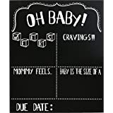 JennyGems Pregnancy Announcement Chalkboard and Photo Prop - Pregnancy Tracker Chalkboard - Extra Large Size 14 x 16…
