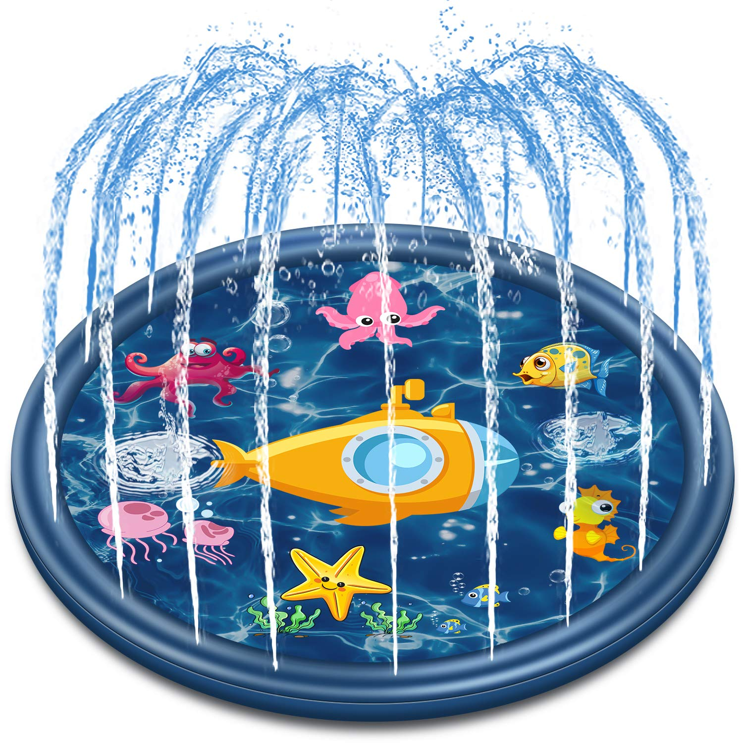 Jozo Outdoor Sprinkler Water Toys for Kids and Toddlers 68'', Kids Summer Splash Pad Toys for 1 2 3 4 5 6 7 8 Year Old Boys and Girls by Jozo