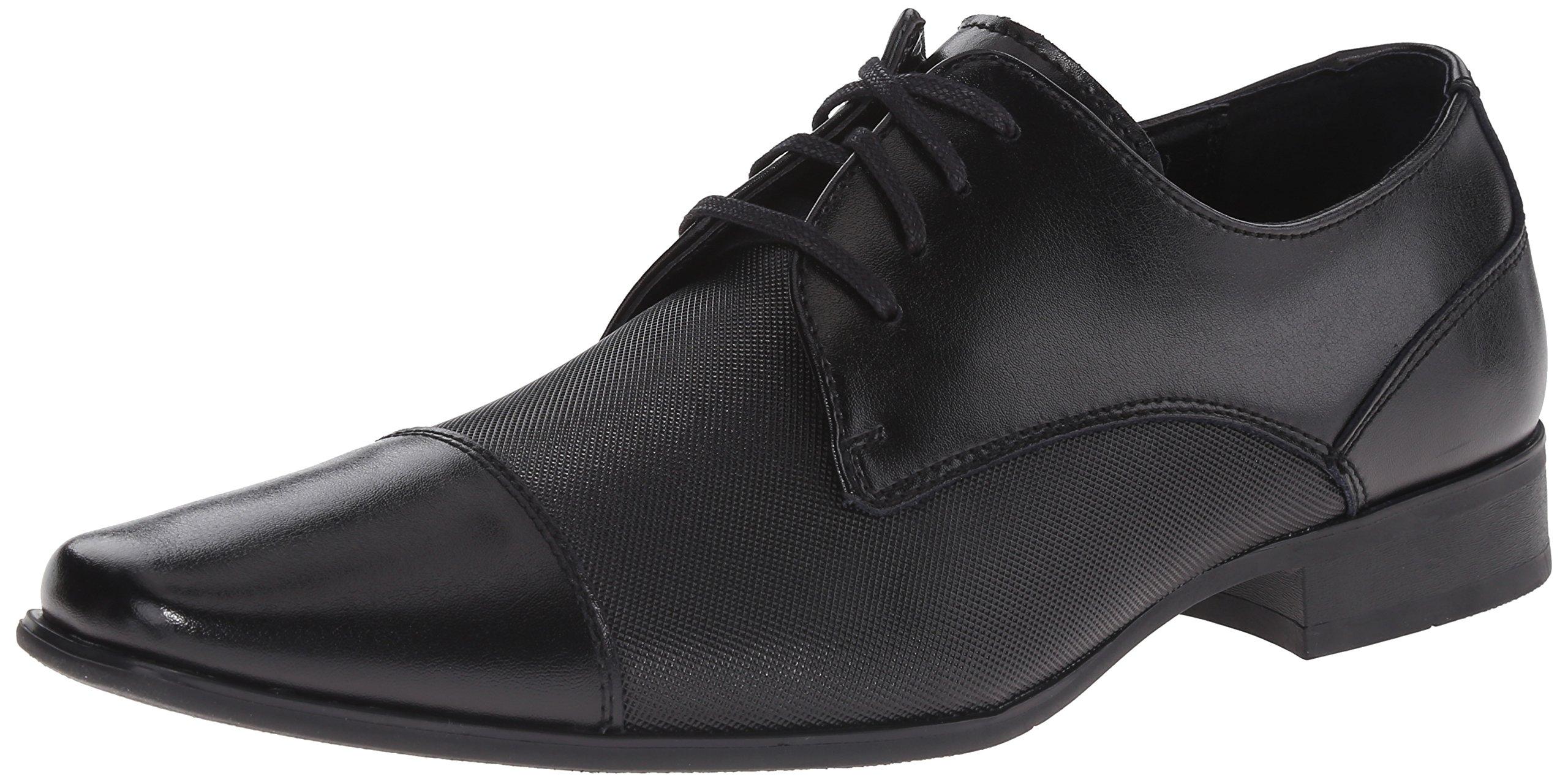 Calvin Klein Men's Bram Oxford, Black Diamond Leather, 10.5 M US