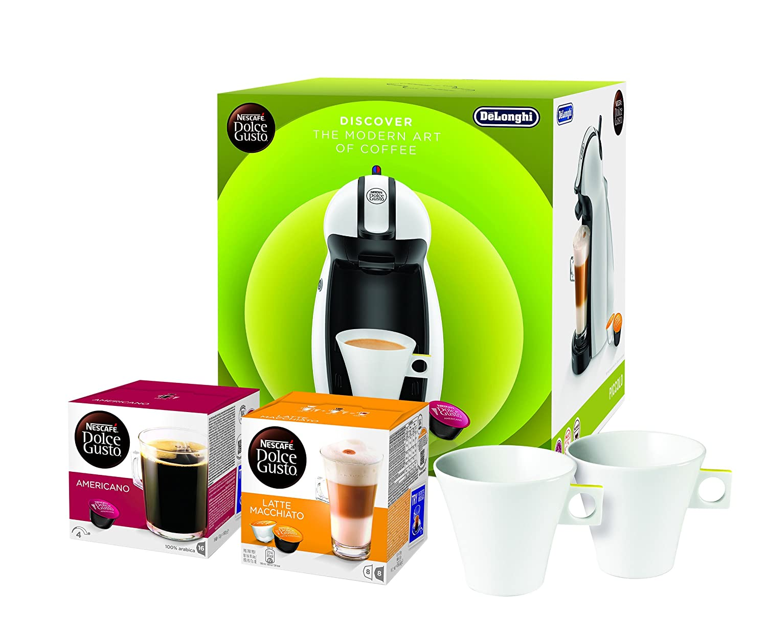 Nescafe Dolce Gusto Bundle Pack, Black/White NL50646