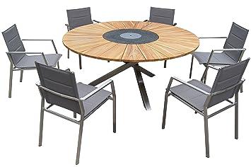 Outflexx Asiento Grupo en Taupe, mesa con placa de madera de ...