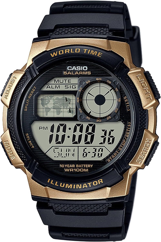 Casio Reloj Digital para Hombre de Cuarzo con Correa en Resina AE-1000W-1A3VCF
