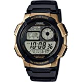Casio Men's '10 Year Battery' Quartz Stainless Steel and Resin Watch, Color:Black (Model: AE-1000W-1A3VCF)