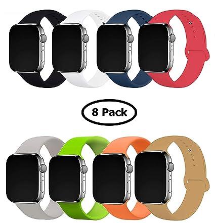 Amazon.com: Paquete de 8 correas de repuesto para Apple ...