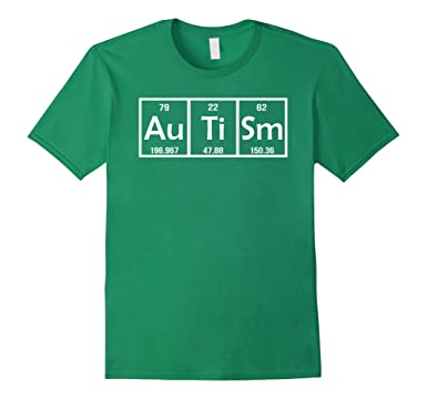 mens autism gifts for adults funny periodic table t shirt 3xl kelly green