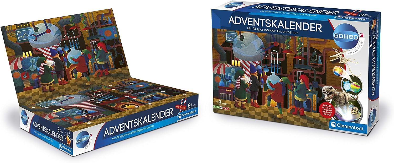 Experimentierkasten mit 24 aufregenden Geschenken Tricks f/ür Kinder ab 8 Jahren Clementoni 59190 Galileo Science spannender Weihnachtskalender Adventskalender