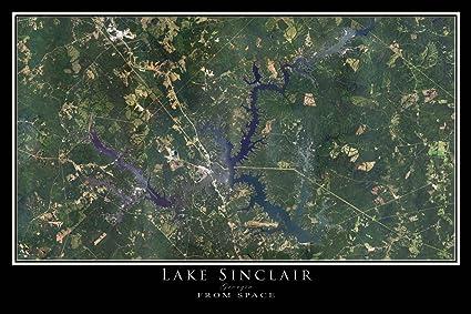 Amazon.com: Lake Sinclair Georgia Satellite Poster Map L 24 ... on hd map of georgia, geological map of georgia, blank map of georgia, thematic map of georgia, county map of georgia, terrain map of georgia, geography of georgia, driving map of georgia, political map of georgia, large map of georgia, weather for georgia, solar map of georgia, the map of georgia, topographic map of georgia, standard map of georgia, thanks for visiting georgia, show me a map of georgia, fiber optic map of georgia, slideshow of georgia, waterways of georgia,