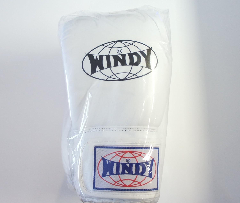 WINDY ウインディ 本革製キックボクシング グローブ 白 12オンス
