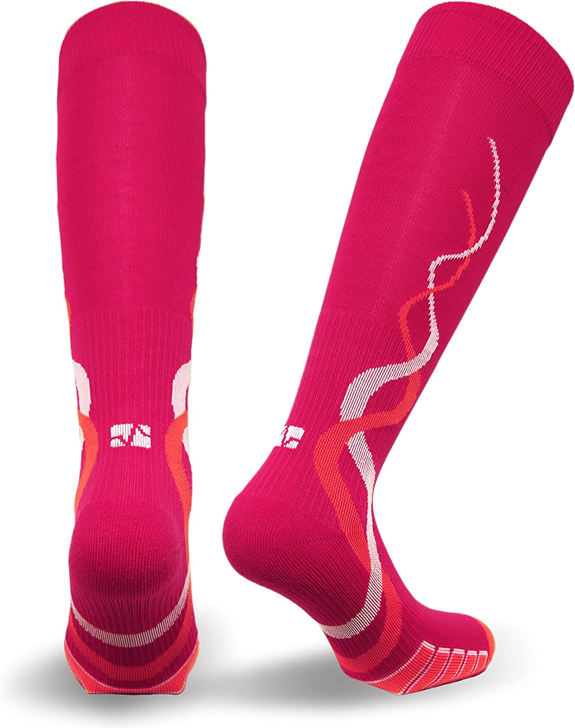 Performance Apparel Vitalsox Womens Pink Silver Drystat Large Socks
