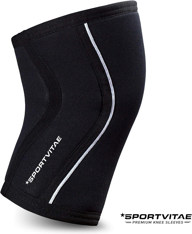 Sportvitae Rodilleras Deportivas Neopreno Knee Sleeves 7mm (2 UD ...