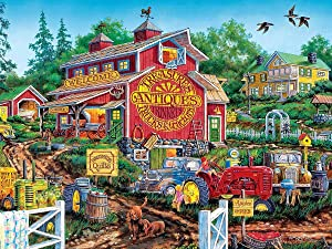 Anwei Wooden Jigsaw Puzzle 300 Piece Puzzle for Adults Rural Scenery Country Landscape Farm Animal Jigsaw Puzzles Forests for Kid Surprise Birthday for Family Home Decor Art Puzzle