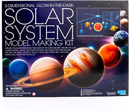 Kids Educational Toys 3D Science Solar System 9 Planets plastic Assembling Model