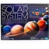 4M 3D Glow-in-the-Dark Solar System Mobile Making Kit - DIY Science Astronomy Learning Stem Toys Educational Gift for Kids &
