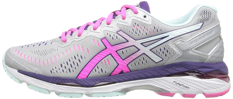 ASICS Women's Gel-Kayano 23 Running Shoe B017USOIF2 10 2A US|Silver/Pink Glow/Parachute Purple