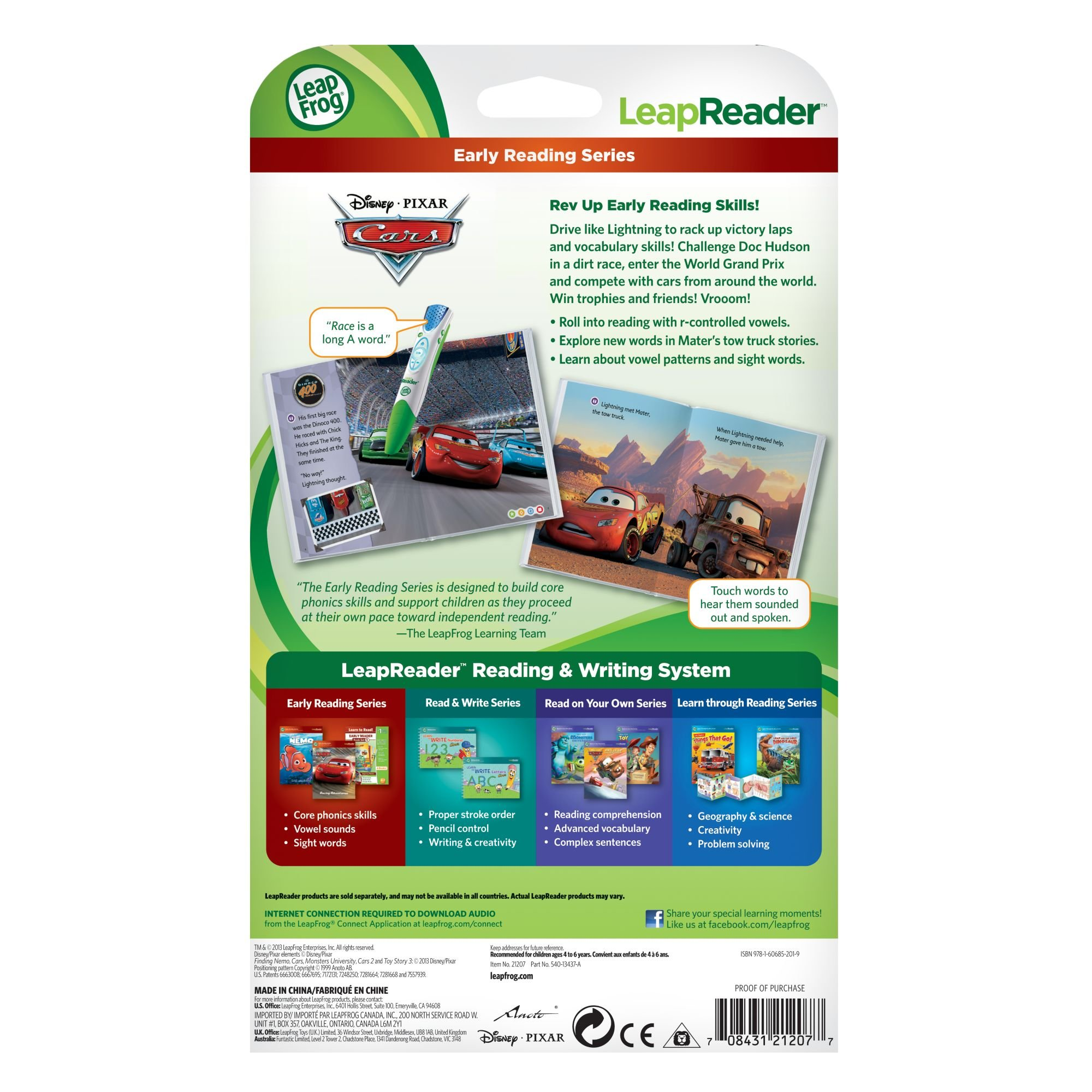 LeapFrog LeapReader Book: Disney·Pixar Cars: Racing Adventures (works with Tag) by LeapFrog (Image #5)