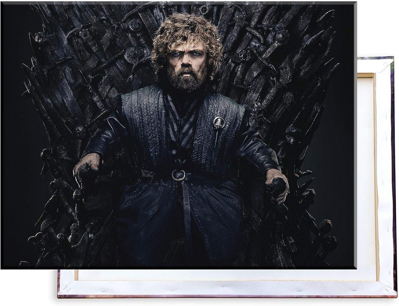 Bilder /& Kunstdrucke fertig auf Leinwand aufgespannt und in erstklassiger Druckqualit/ät 60x40 cm Eiserner Tron Tyrion Lannister Unified Distribution Game of Thrones