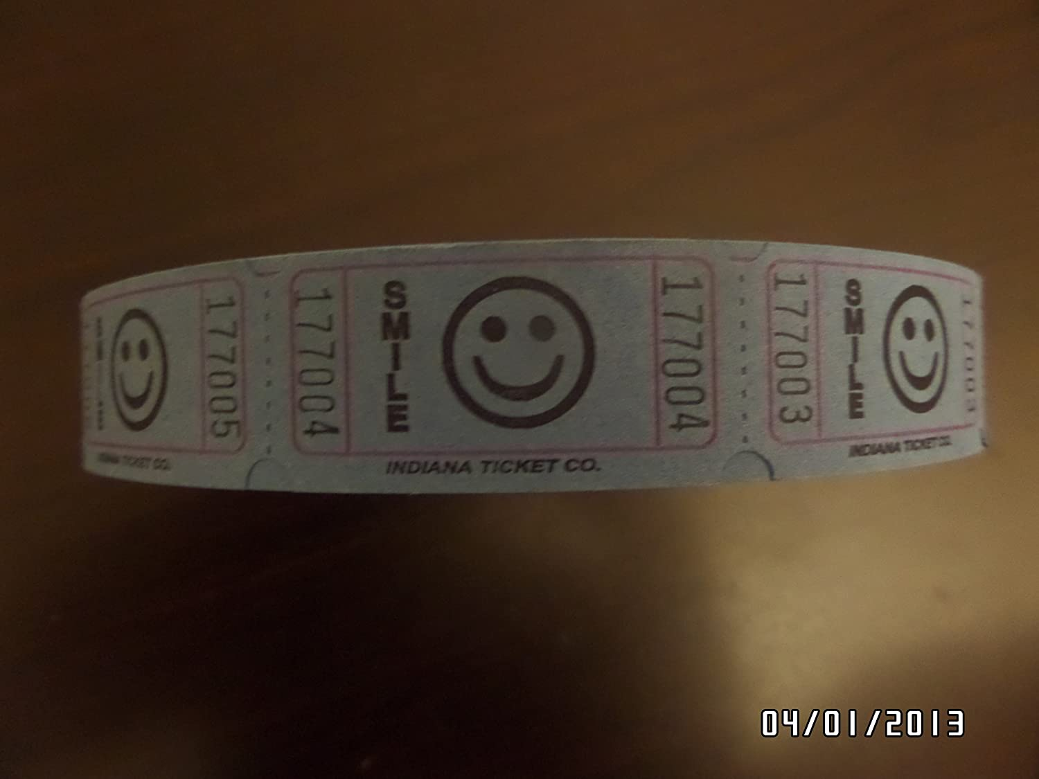 Smile Ticket Roll-2000 Ticket per roll by Indiana Ticket Co Easy to Read Lime