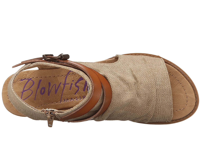 Blowfish Women's Balla Wedge Sandal B07C91H9L7 38-39 M EU / 8 B(M) US|Desert Sand Rancher/Canvas-dyecut