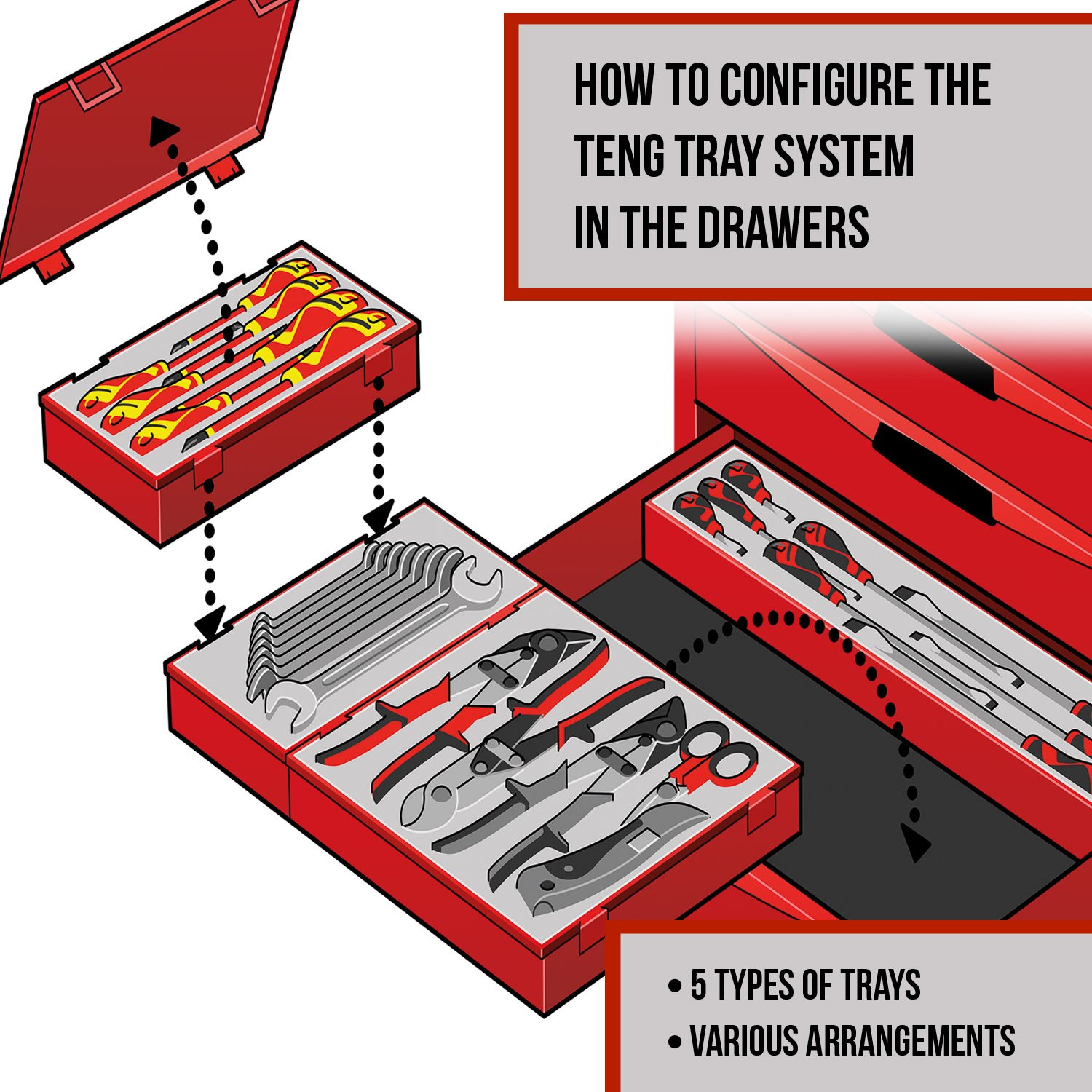 Teng Tools - 5 Piece 10 inch Hand File Set - TTXF05 by Teng Tools (Image #2)