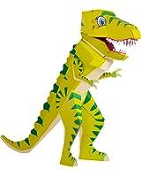 Patentierte Schultüte - Dino Schulrex - 100cm - Dinosaurier T Rex Tyrannosaurus Rex - Stehende Schultüte - Der kleine Knick - grüner Dino - 1 Stück