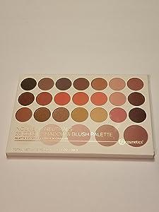 BH Cosmetics Nouveau Neutrals 26 Color Shadow and Blush Palette