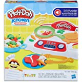 Play-Doh - Kitchen Creations - Sizzlin' Stovetop inc 5 Tubs of Dough & Acc - Creative Kids Toys - Ages 3+