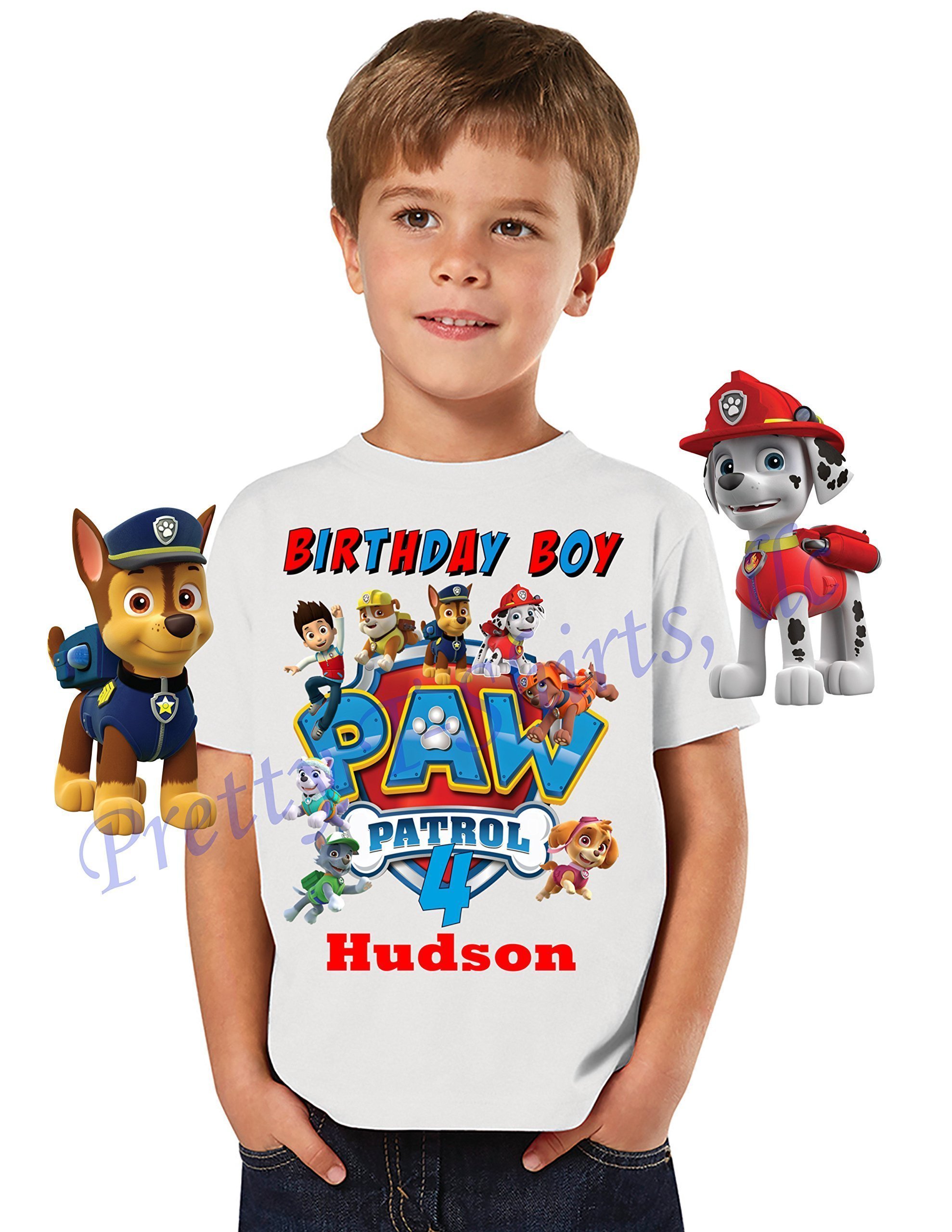 Paw Patrol Birthday Shirt, Birthday FAMILY Shirt, Paw Patrol Birthday Boy Shirt, Paw Patrol Party Favor, Add ANY name and Age, VISIT OUR SHOP!!