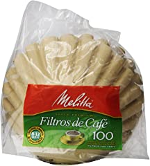 Melitta Basket Coffee Filters, Natural Brown, 100 Count
