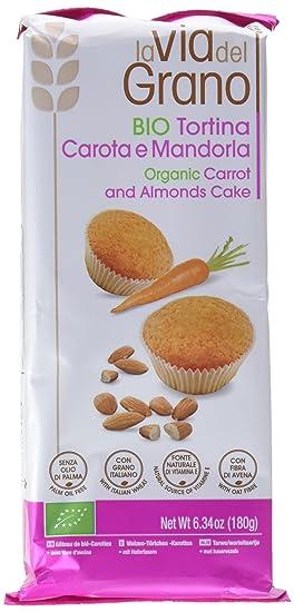 Probios La Via Del Grano Pastel de Zanahoria y Almendras - 12 paquetes